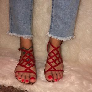 Tory Burch Red strappy Sandals